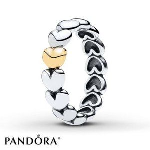 Pandora My one true love ring two tone Siz…